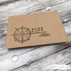 Carte VOEUX 2022 rose des...