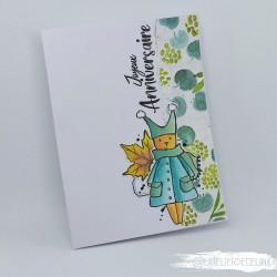 Carte anniversaire Lapin...
