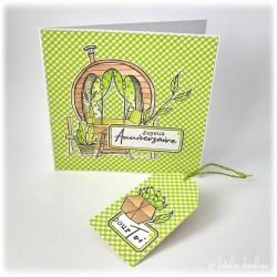 Carte anniversaire plantes...