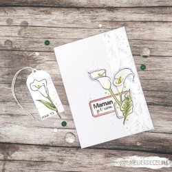 Carte florale arums blanc...